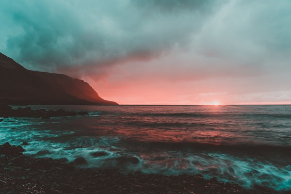 Nature Stock Photos: PhotoMarket - Colorful Sunset over the Ocean