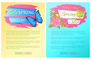 Only Today Spring Sale Discount Premium Posters