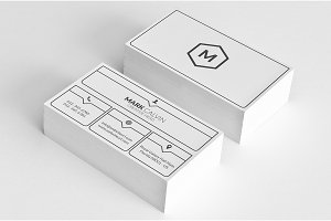 Simple Minimal Business Card 50
