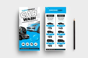 Car Wash DL Card Template