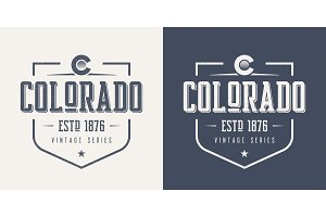 Colorado state textured vintage vector t-shirt and apparel desig