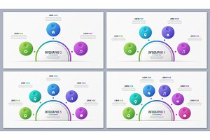 Set of circle chart templates with 3 4 5 6 7 8 options. Global s