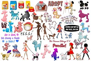 Poodle Clip Art and Word Art