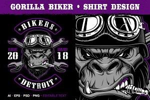 Gorilla Biker