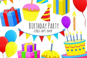 Birthday Clip Art Illustrations