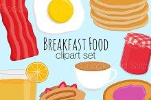 Breakfast Food Clipart Illustrations