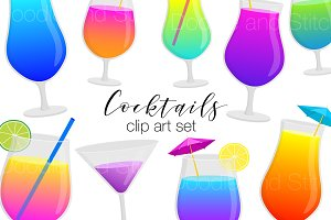 Cocktail Drink Clipart Illustrations