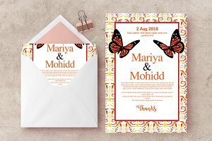 Wedding Invite Card Print Template