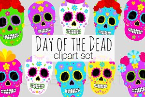 Day of the Dead Clipart Set