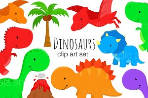 Dinosaur Clipart Illustrations