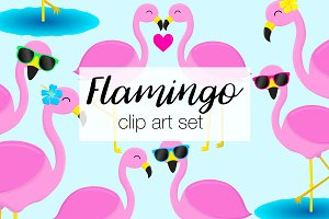 Flamingo Clipart Illustrations