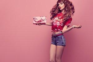 Pretty Slim Playful Model Pink