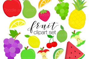 Fruit Clipart Illustration Set