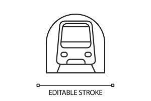 Metro linear icon