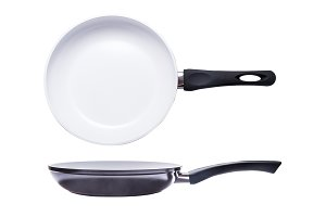 White ceramic pan