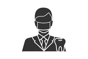 Dentist glyph icon