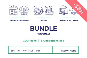 Line Icons – Bundle Vol 2 (33% off)