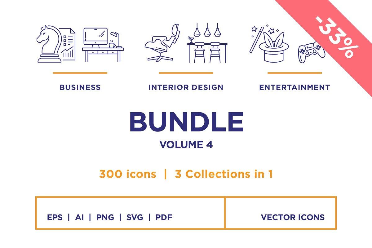 Line Icons – Bundle Vol 4 (33% off)
