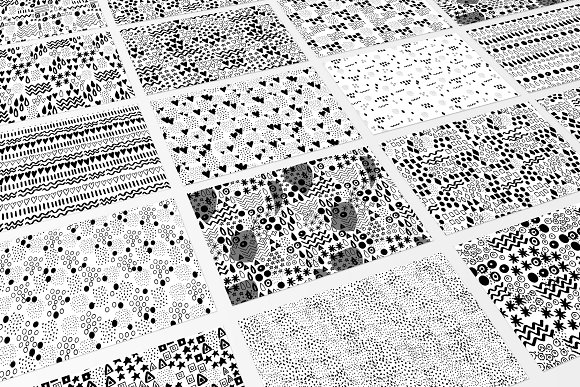Hand Drawn B W Pattern Collection