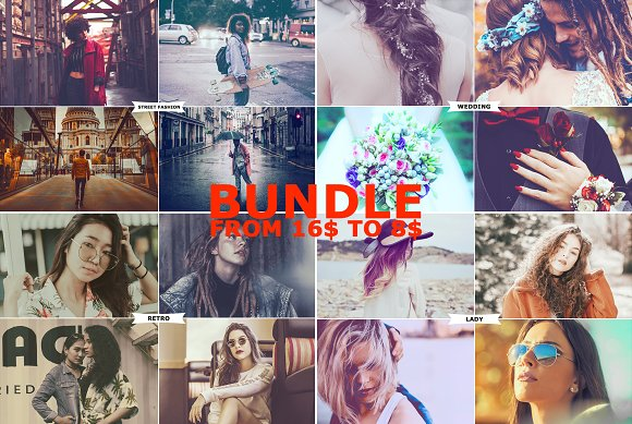 4 IN 1 Photoshop Actions Bundle MAY1