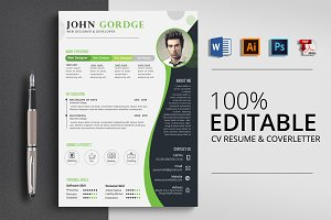 Stylish CV Resume Word Template