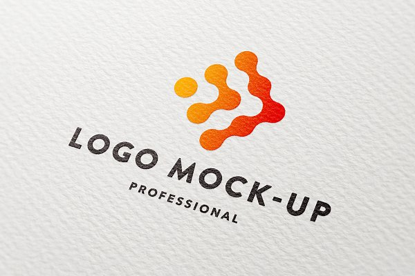 Clean paper logo mock-up