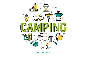 Camping - round linear concept