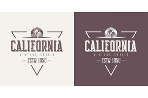 California state textured vintage vector t-shirt and apparel des