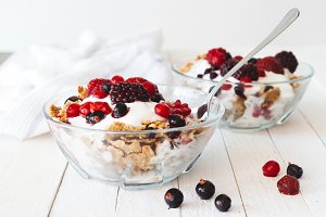 Granola with yogurt