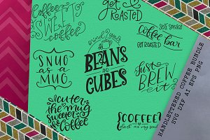 Hand Lettered Coffee Bar Bundle