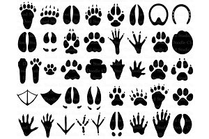 31 Animal Paw SVG, Paw Prints Files.