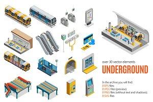 Underground Isometric Set