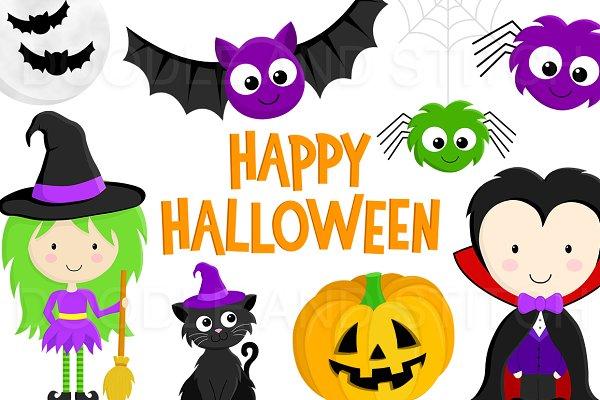 Halloween Clipart Illustrations Pre Designed Photoshop Graphics Creative Market