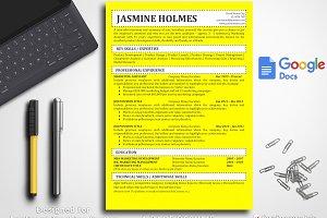 Simple Resume Template Google Docs