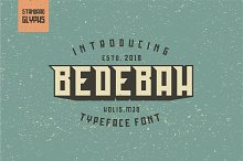 Bedebah Typeface Font by  in Slab Serif Fonts
