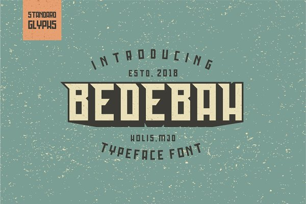Fonts: 24H.GraphicDesign - Bedebah Typeface Font