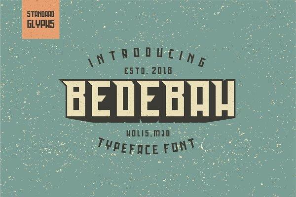 Slab Serif Fonts: 24Design Stds - Bedebah Typeface Font