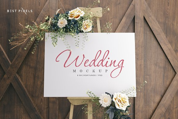 Download Wedding Board Mockup Bundle