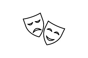 icon. Theater masks