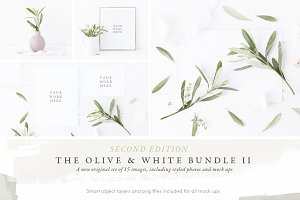 NEW Olive & White Mock up Bundle II