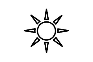 Web icon. Sun. vector illustration
