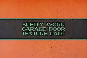 Subtly worn garage door texture pack
