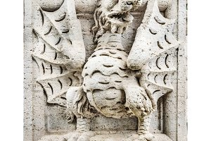 Dragon Sculpture Isolated Photo