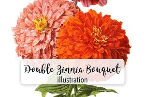 Florals: Double Zinnia Bouquet