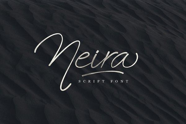 Fonts: emyself design - Neira script font