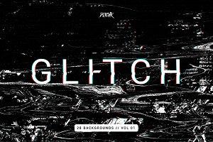 Intense Glitch Backgrounds | Vol.01