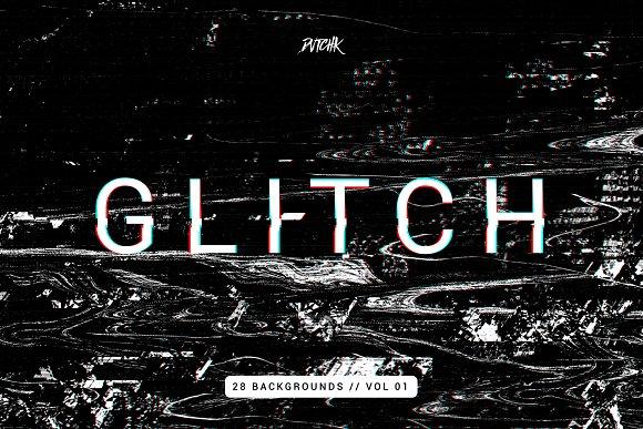Intense Glitch Backgrounds Vol.01