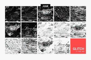 Intense Glitch Backgrounds   Vol.02