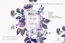 purple florals