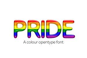 Pride font color open type font